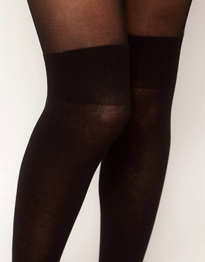 Image 2 ofPretty Polly Over The Knee Secret Sock Tights