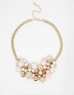 Lipsy Pearl & Bobble Collar Necklace