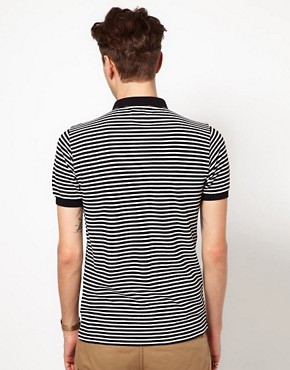 Image 2 of Black Chocoolate Stripe Polo