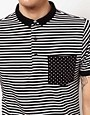 Image 3 of Black Chocoolate Stripe Polo