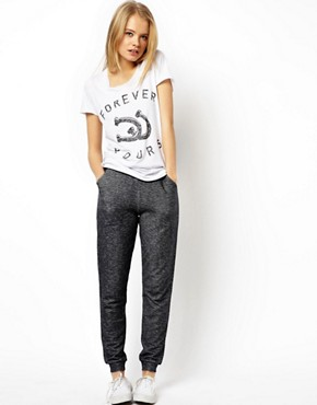 ASOS Lightweight Sweatpants in Slim Fit In Denim Effect