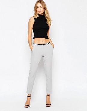 ASOS Cigarette Trouser With Belt