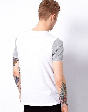 Image 2 ofASOS Stripe T-Shirt With Contrast Sleeves