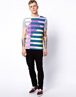 Image 4 ofASOS Stripe T-Shirt With Contrast Sleeves