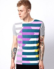 ASOS Stripe T-Shirt With Contrast Sleeves