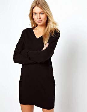 Image 1 ofASOS Fine Knit Jumper Dress