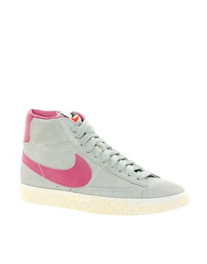 Image 1 ofNike Blazer Mid Grey Trainers