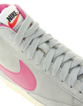 Image 2 ofNike Blazer Mid Grey Trainers