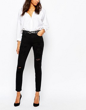 A-Gold-E Sophie High Waist Ankle Grazer Skinny Jean With Rips