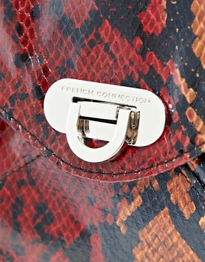 Image 4 ofFrench Connection Envelope Snakeskin Clutch Bag