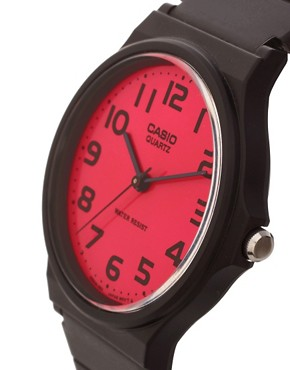 Image 3 of Casio Pink Dial Black Strap Watch
