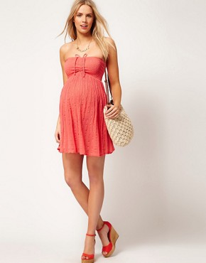 Image 4 ofASOS Maternity Cheesecloth Bandeau Dress