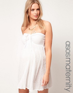 Image 1 ofASOS Maternity Cheesecloth Bandeau Dress