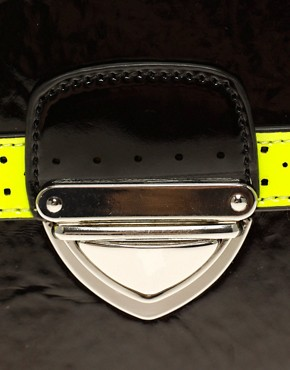 Image 4 ofASOS Fluro Trim Across Body Bag