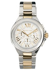 Michael Kors Silver &amp; Gold Chronograph Watch