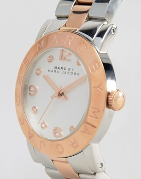 Image 3 ofMARC BY MARC JACOBS SILVER AND ROSE GOLD TWO TONED WATCH
