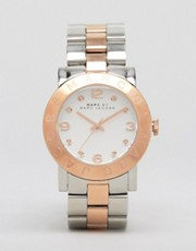 Marc By Marc Jacobs Silver And Rose Gold Two Toned Watch