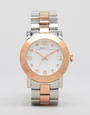 Image 1 ofMARC BY MARC JACOBS SILVER AND ROSE GOLD TWO TONED WATCH