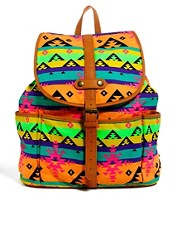 ASOS Backpack in Fluro Aztec