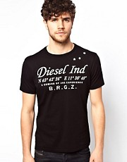 Diesel T-Shirt T-CoOrdintates Script Logo