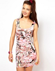 Johann Earl Body-Conscious Dress in Print