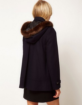 Image 2 ofASOS Hooded A-Line Duffle Coat