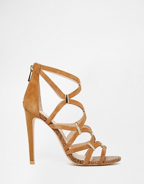 River Island Peter Leather Gladiator Trim Heeled Sandals