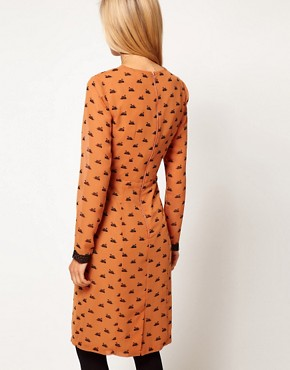 Image 2 ofASOS Midi Dress In Swan Print