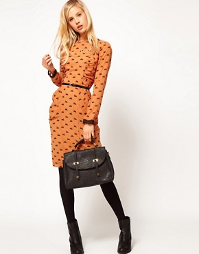 Image 4 ofASOS Midi Dress In Swan Print