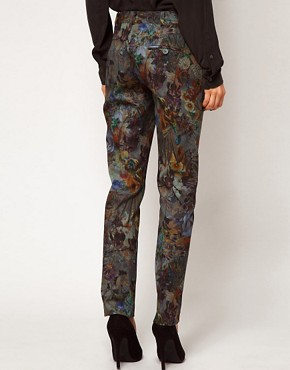 Image 2 ofASOS Premium Floral Printed Trousers