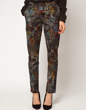 Image 4 ofASOS Premium Floral Printed Trousers
