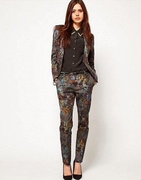 Image 1 ofASOS Premium Floral Printed Trousers