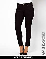 ASOS CURVE Jet Black Skinny Jean