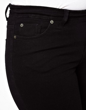 Image 3 ofASOS CURVE Jet Black Skinny Jean