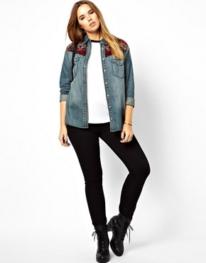 Image 4 ofASOS CURVE Jet Black Skinny Jean