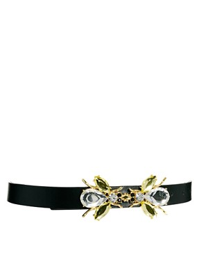 Image 1 ofASOS Gem Bug Buckle Waist Belt