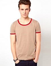 ASOS T-Shirt With Contrast Neck Trim And Cuff