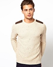 River Island Tim Crew Neck Jumper with Epelettes