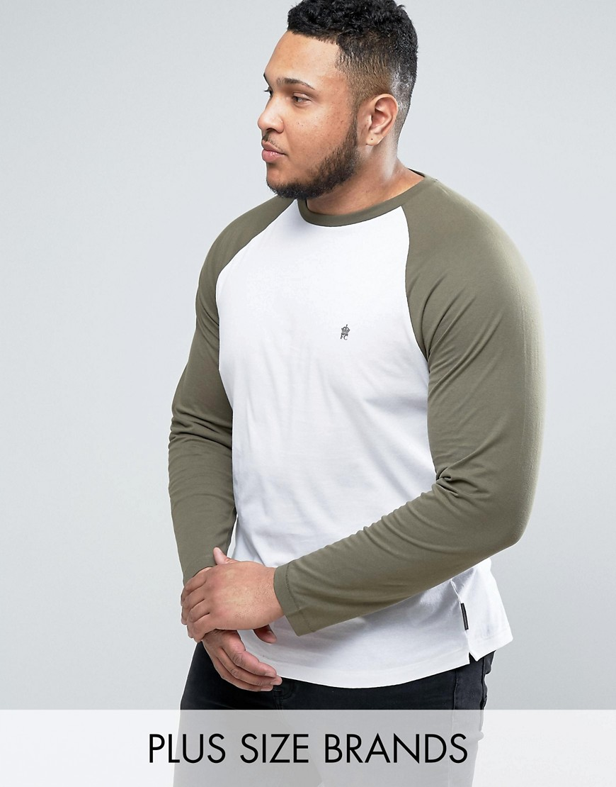 French Connection PLUS Long Sleeve Raglan Top - White