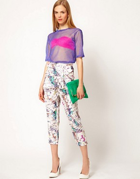 Image 4 ofASOS White Lurex Shell Top