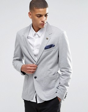 Selected Homme Blazer In Grey