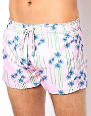 Oiler & Boiler Palm Print Shortie Swim Shorts