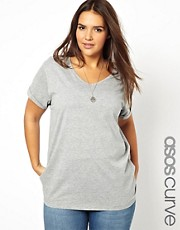 ASOS CURVE T-Shirt With V-Neck