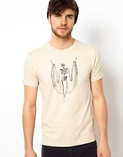 Paul Smith Jeans T-Shirt with Skeleton Print
