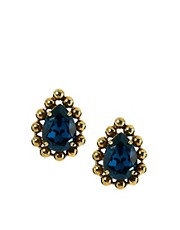 Krystal Swarovski Tear Drop Stud Earrings