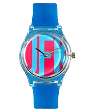 MAY 28TH JFK Watch Blue Glossy Plastic Buckle