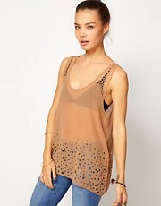 One Teaspoon Cuban Top With Cut-Out Detail