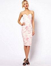 ASOS Bandeau Dress In Pink Wedgewood