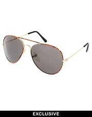 Reclaimed Vintage Aviator Sunglasses