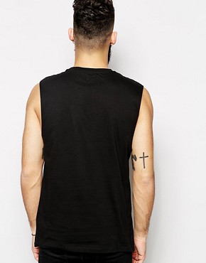 Image 2 ofASOS Sleeveless T-Shirt With Pocket